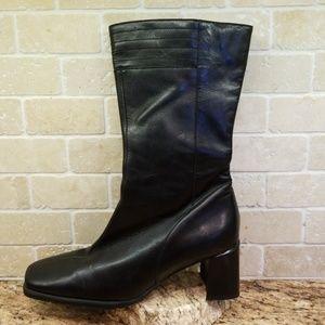 eda2d7d78b6 ECCO Black Leather Midcalf Boot Sz 6